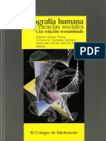 Geografía humana y ciencias sociales. Una relación reexaminada.
