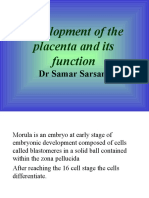 Development of the placenta and its function