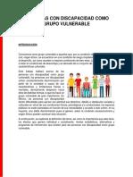 PERSONAS CON DISCAPACIDAD COMO GRUPO VULNERABLE