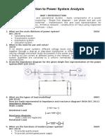 Introduction to Powe Sysytem Analysis