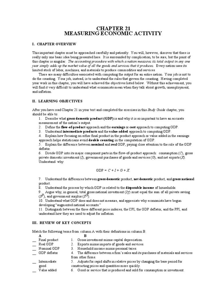 essay on gdp