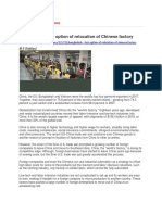 Bangladesh - Last Option of Relocation of Chinese Factory
