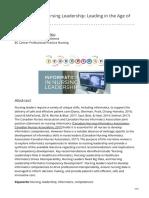 cjni.net-Informatics in Nursing Leadership Leading in the Age of Technology