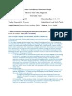 classroom observation assignment-form 1 2