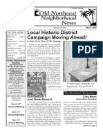Old Northeast Neighborhood News - March 2006