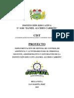 IMPLEMENTACIÓN DE CONTROL DE ASISTENCIA PARA EL PERSONAL DOCENTE, ADMINISTRATIVO Y ESTUDIANTES