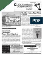 Historic Old Northeast Neighborhood News - December 2007