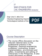 CHE 507 Chemical Enginering Ethics      PArt 1