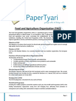 Functions of FAO (Food and Agriculture Organization)