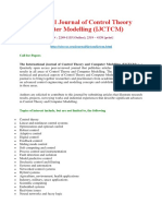 International Journal of Control Theory and Computer Modelling (IJCTCM)