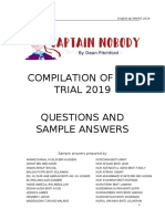 ANSWERS COMPILATION OF SECTION D CAPTAIN NOBODY TRIAL 2019