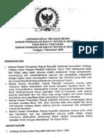 Laporan Tim Kerja Kasus Munir Ke Paripurna DPR