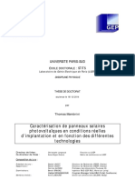 Caractérisation de Panneaux Solaires Photovoltaïques en Conditions Réelles d'Implantation Et en Fonction Des Différentes Technologies