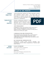 Official Resume_Del Monte