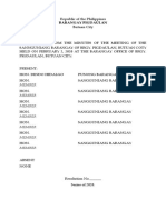 Barangay Resolution