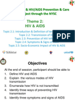 3a. HIV and AIDS