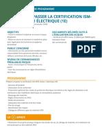 Preparer et passer la certification IsmATEX niveau 1 electrique 1E