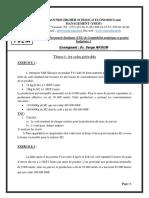 TPE Comptablité Analytique et Budgétaire 2