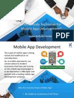 Why Choose Kodt Technolab for Mobile App Development