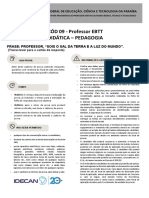 Professor EBTT - Didática - Pedagogia