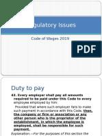 8.0 Regulatory Compliance