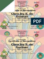 certificate - attendance