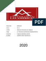 DERECHO PROCESAL LABORAL 2020