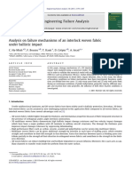 Analysis on Failure Mechanisms of an Interlock Woven Fabric