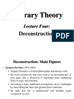 4- Literary Theory Lecture Four Deconstruction