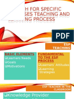 English for specific purposes teaching and learning process
