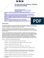 Section 3 - CODEX_THE HAZARD ANALYSIS AND CRITICAL CONTROL POINT (HACCP) SYSTEM