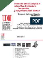 3D Stress Analysis in Complex Fiber Architecture