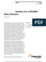Channel Estimation for a WCDMA Rake Receiver