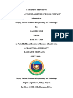 A TRAINING REPORT ON EQUITY AND DERIVATIVE