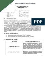 PROGRAMACIONES ARTE 1ERO Y SEGUNDO DE SECUNDARIA