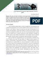 Generos e Formatos de Programas de TV local de Campo Grande- MS 2013 um breve perfil