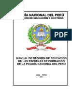 MANUAL DE REGIMEN DE EDUCACION DE LAS ESCUELAS DE FORMACION DE LA PNP