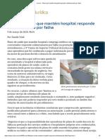 ConJur - Plano que mantém hospital responde solidariamente por falha