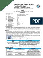 SILABO E502( DES. INTE. EMOCIONAL)- O. ANTESANO 2020-I