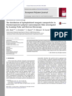 The distribution of hydrophobized inorganic nanoparticles in thermoresponsive polymer nanocomposite films