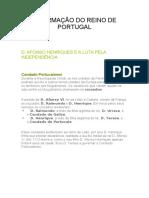 A FORMAÇÃO DO REINO DE PORTUGAL.docx