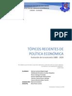 Tópicos Recientes de Política Económica