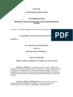LEY Nº 165 LEY GENERAL DE TRANSPORTE