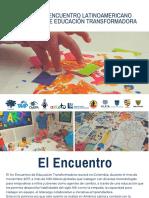 1er Encuentro Latinoamericano de Educación Transformadora presentacion para aliados