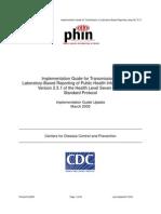 PHIN Laboratory Result ELR v231