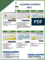 Calendário 2020.1 - Faculdade Católica