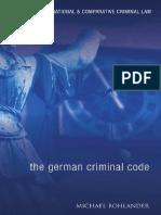 (Studies in International and Comparative Criminal Law) Michael Bohlander - The German Criminal Code_ A Modern English Translation -Hart Publishing (2008)