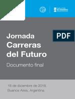 Jornada Carreras del Futuro - Documento final
