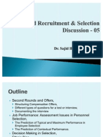 Advanced Recruitment & Selection - Lecture 05, 09-10-2010