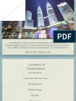SME factors in Malaysia - a literature review
